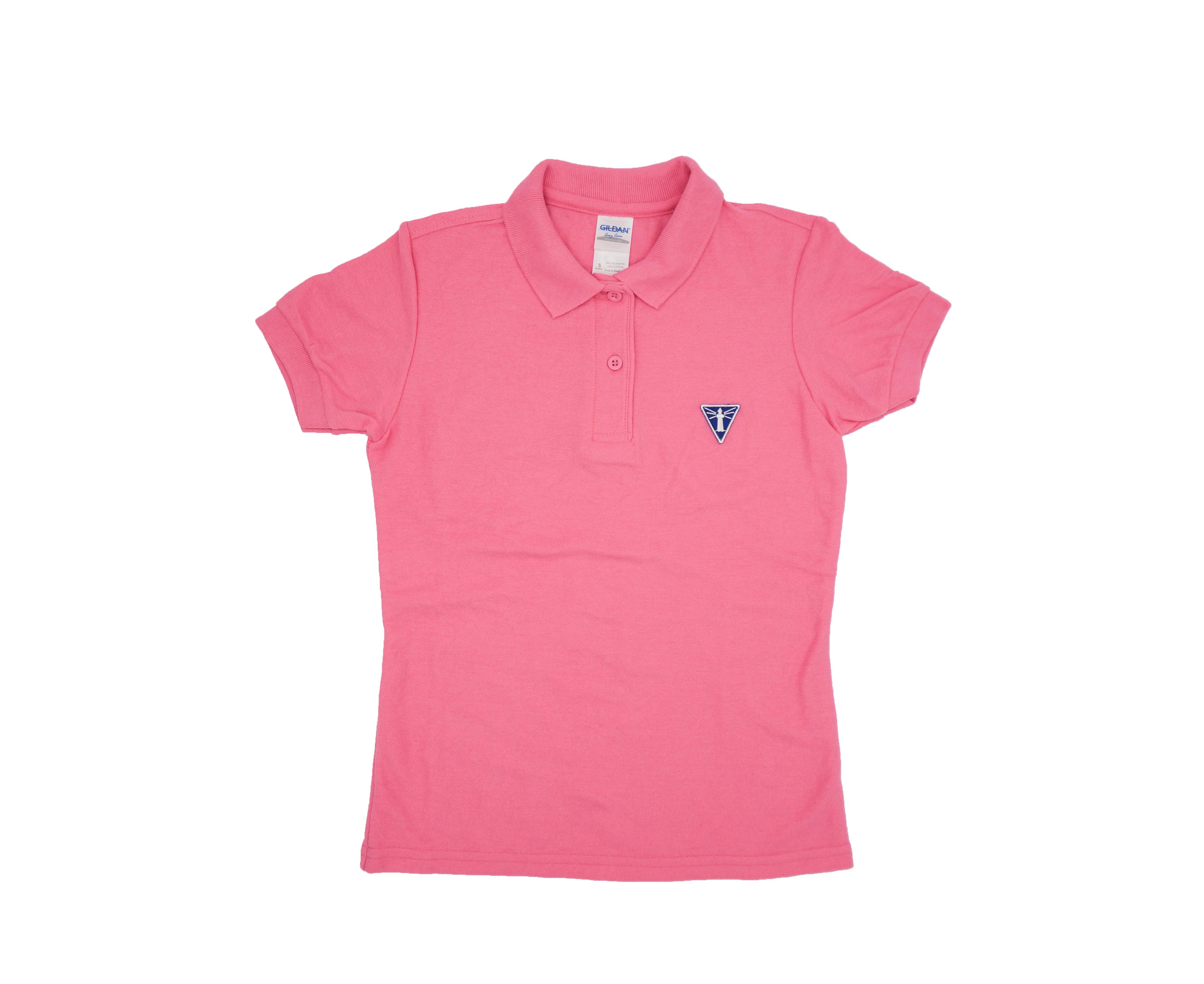 成功燈塔繡章粉紅POLO衫